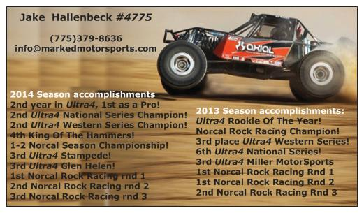 Marked Motorsports 2013-2014 Season Acomplishments - Click Image to Close